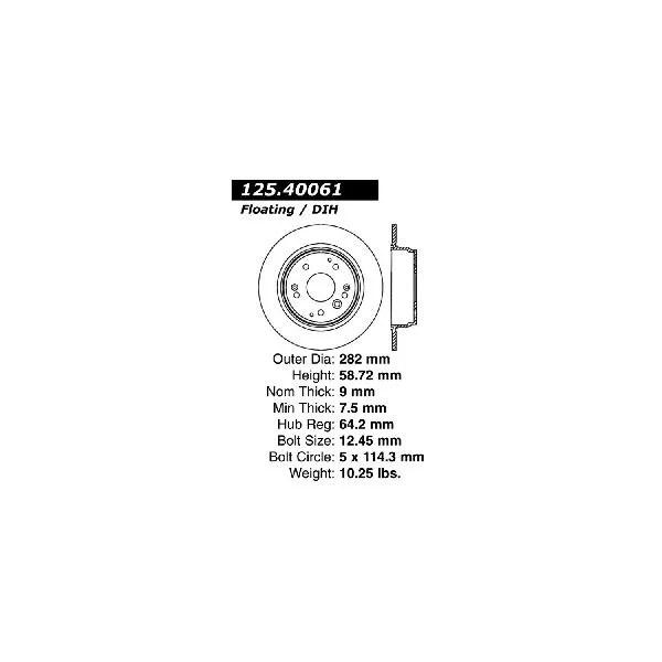 Go-Parts » 2004-2008 Acura TL Rear Disc Brake Rotor for