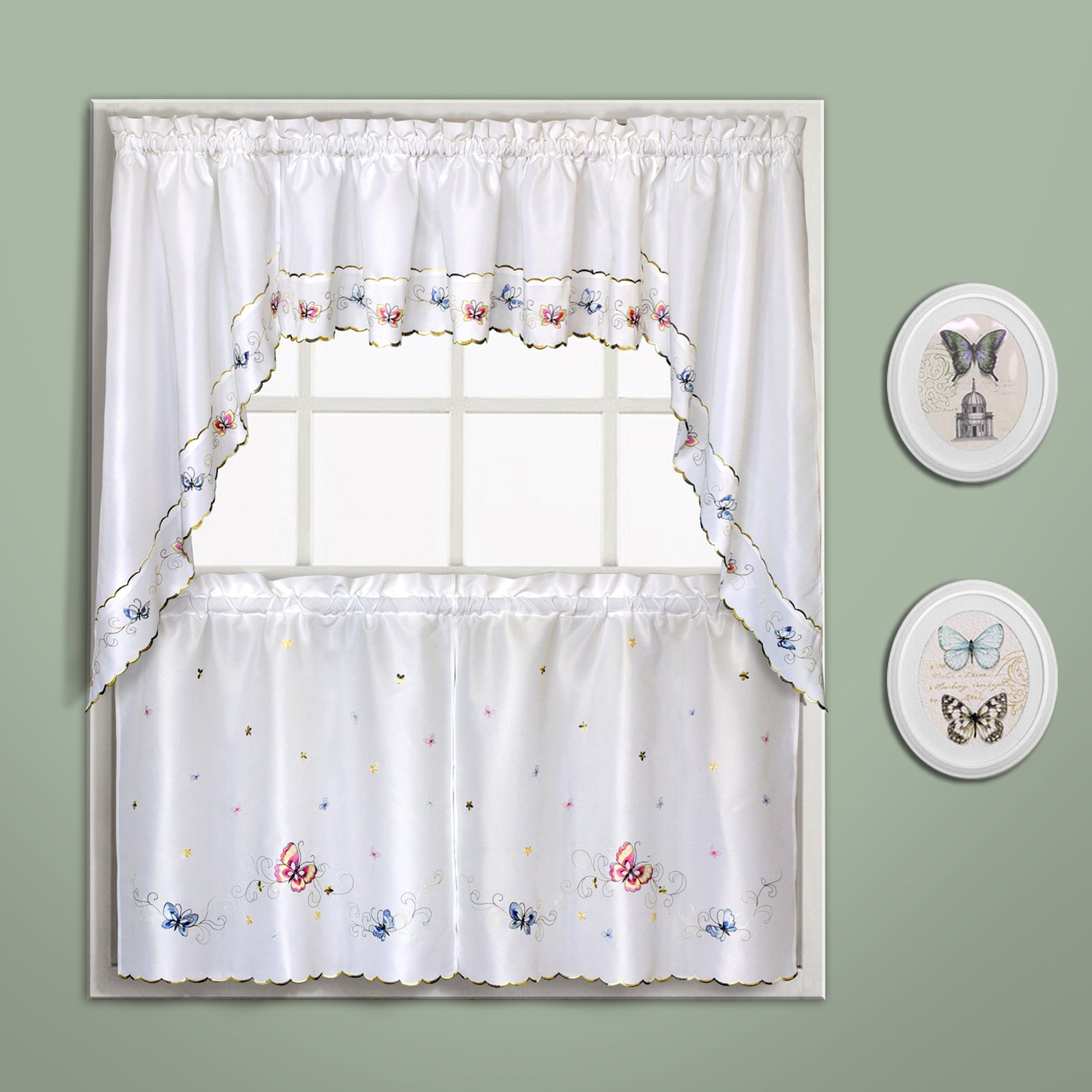 Butterfly 60 X 12 Window Curtain Valance Multi