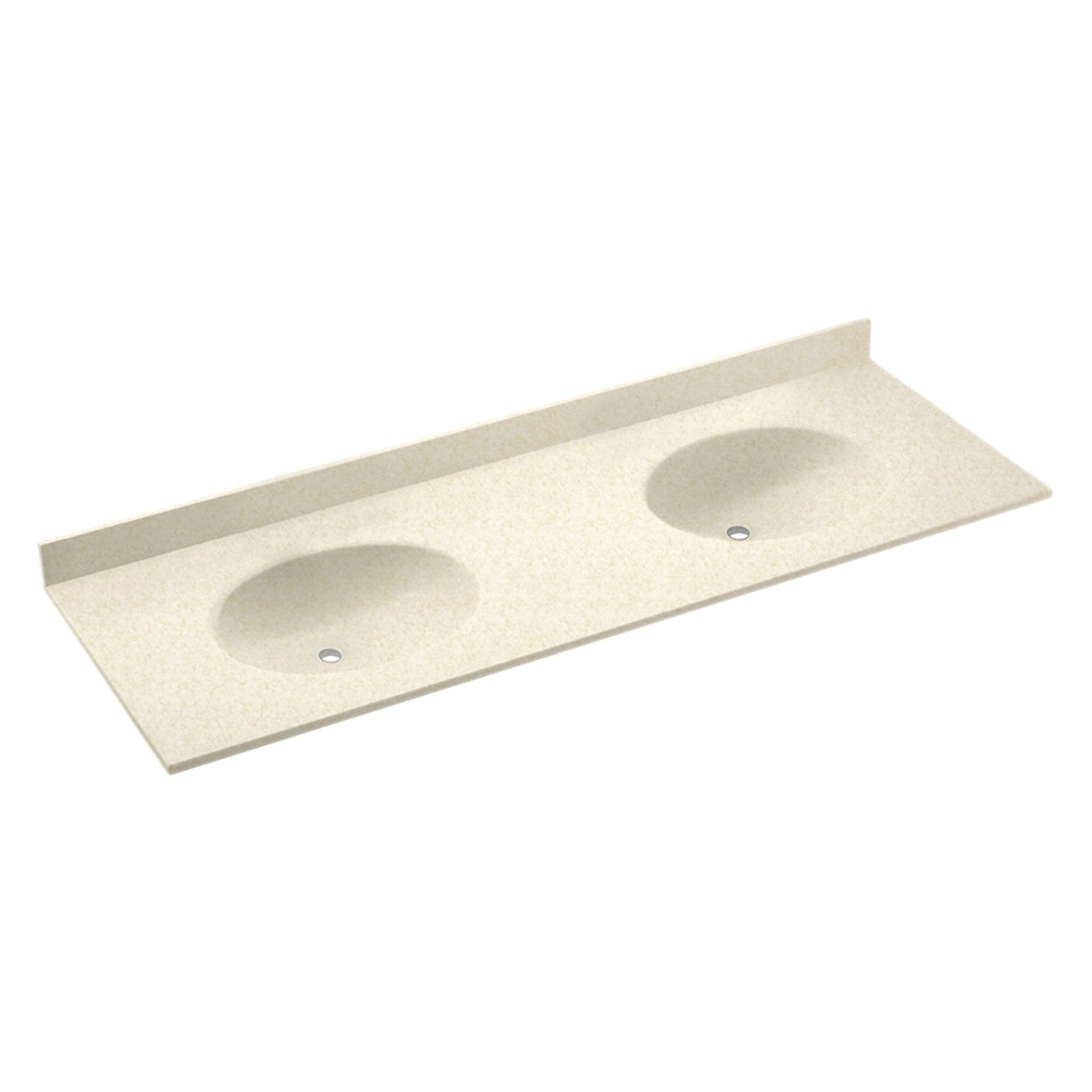 swanstone 61w x 22d in ellipse solid surface double sink vanity top