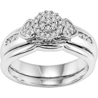 Forever Bride 1/6 Carat T.W. Diamond Bridal Set in ...
