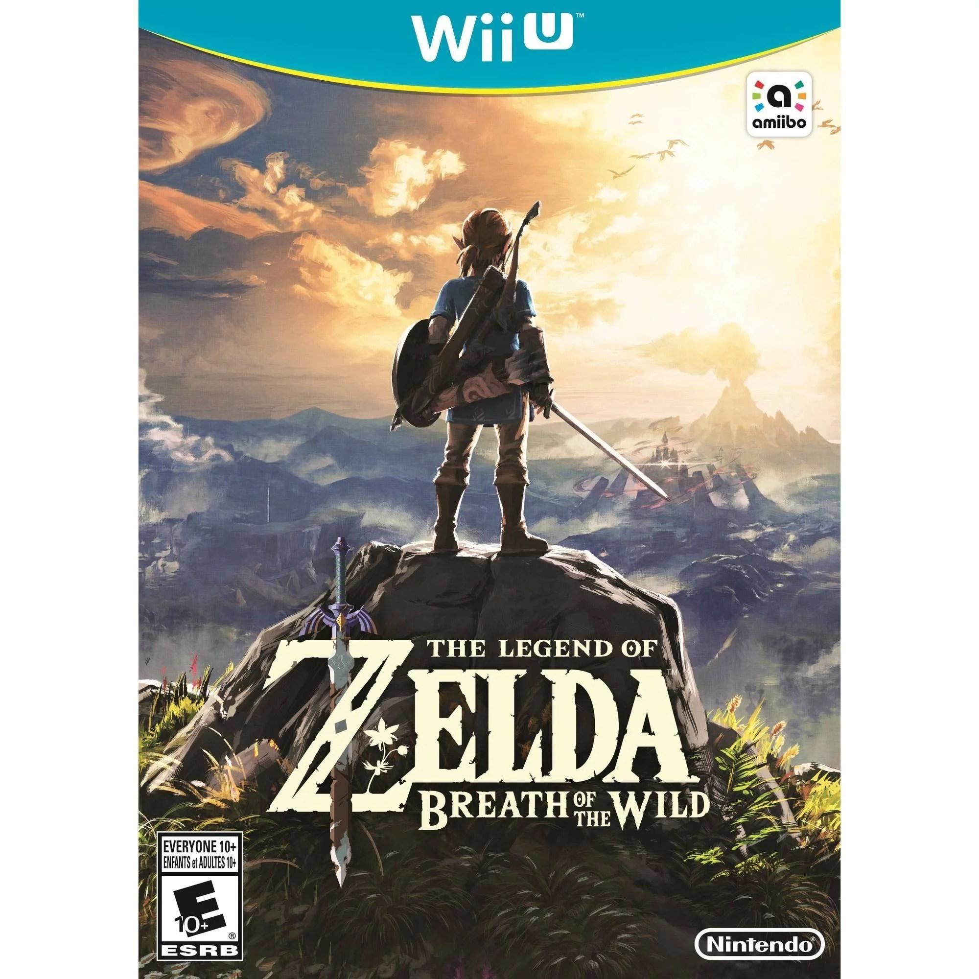 The Legend Of Zelda Breath Of The Wild Wii U Walmart
