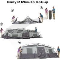 "Ozark Trail 20' x 10' x 80"" Instant Cabin Tent, Sleeps 12 ..."