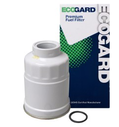 ecogard xf60222 diesel fuel filter premium replacement fits isuzu pickup trooper i mark npr hd nqr nrr chevrolet luv chevette s10  [ 1000 x 1000 Pixel ]