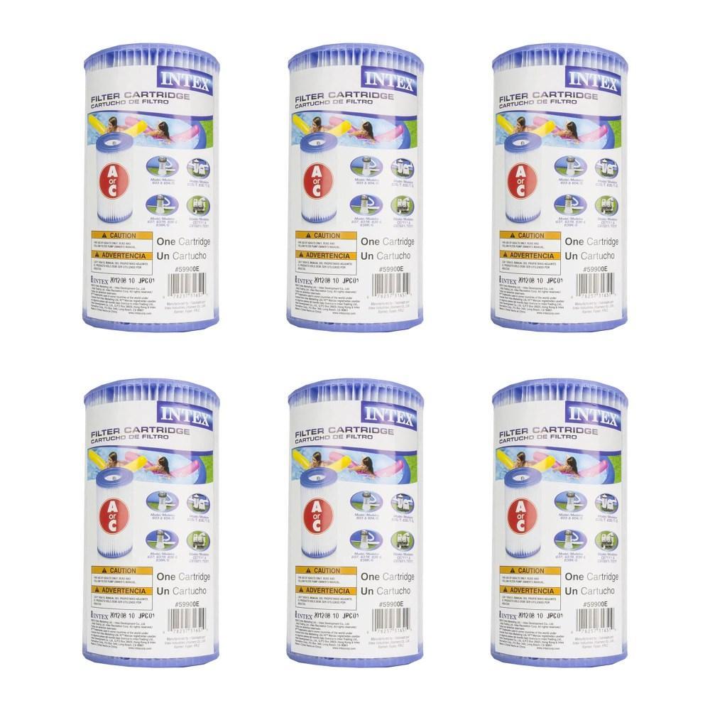 medium resolution of intex pool easy set type a replacement filter pump cartridge 29000e 6 pack walmart com
