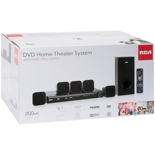 small resolution of rca dvd home theater system with hdmi 1080p output 8 pc box walmart com