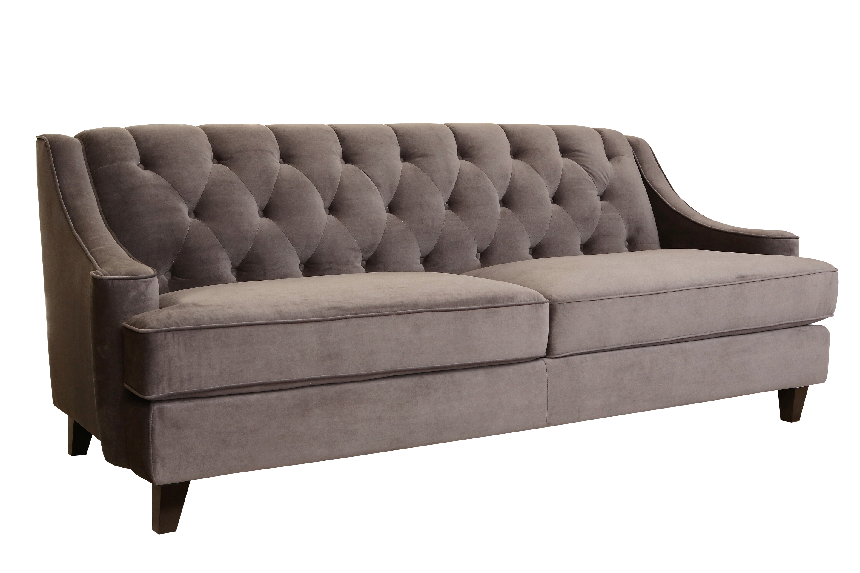 velvet grey tufted sofa bernhardt finley reviews devon claire peyton fabric walmart com