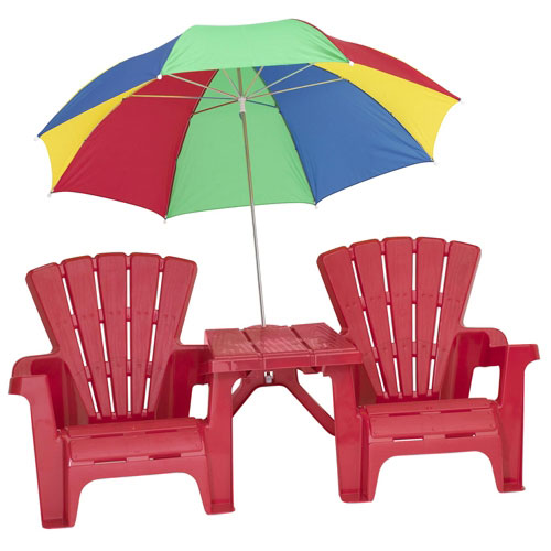 kids adirondack chair and table set with umbrella modway office reviews kids' umbrella, red - walmart.com