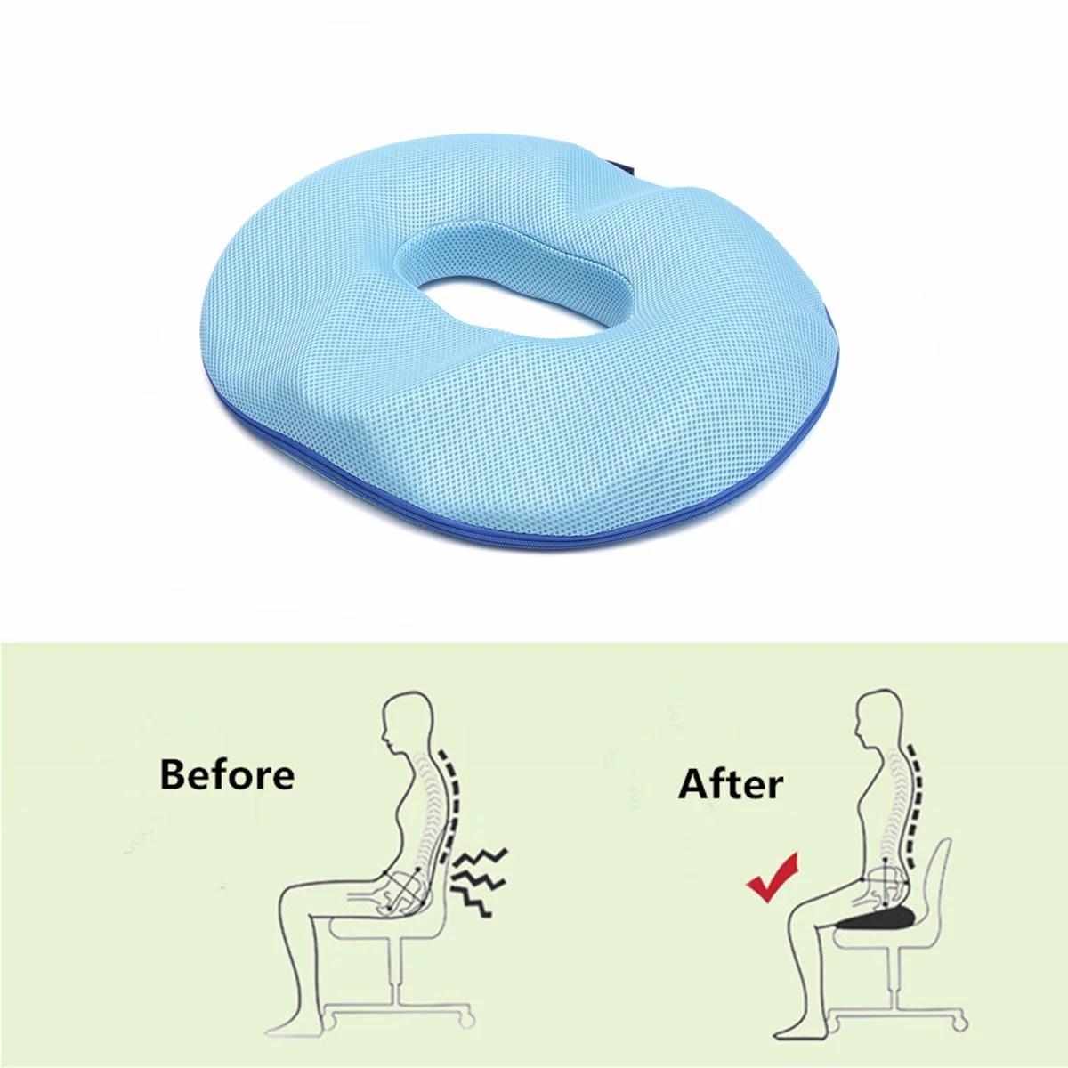 men donut tailbone pillow hemorrhoid cushion donut seat cushion pain relief hemmoroid treatment bed sores prostate coccyx sciatica pregnancy