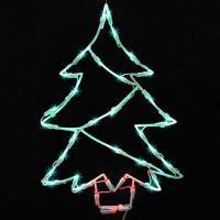 "18"" Lighted LED Christmas Tree Window Silhouette"