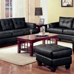 Modern Black Living Room Ideas With Dark Grey Sofas 2 Piece Bonded Leather Sofa And Loveseat Livingroom Set Walmart Com