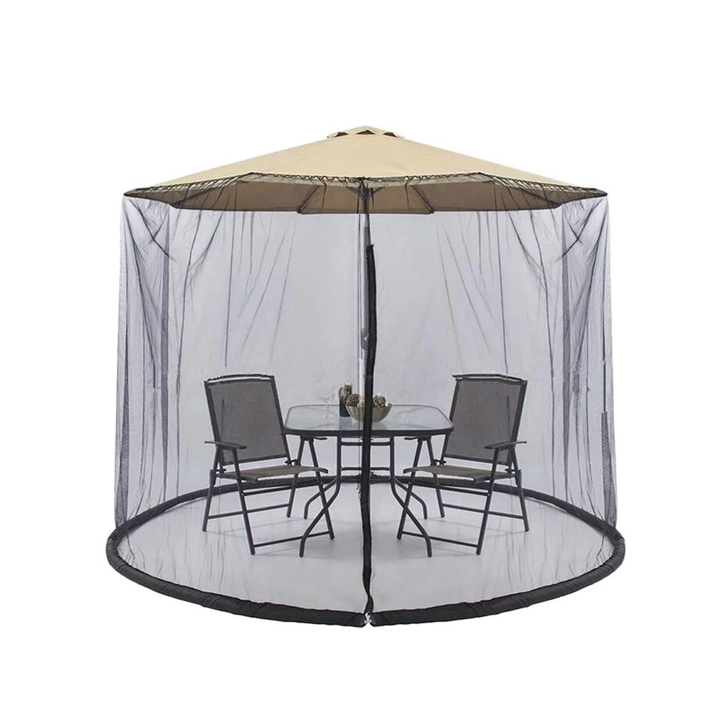 300x230cm patio umbrella cover zippered mosquito netting screen table umbrella garden deck furniture for outdoor black