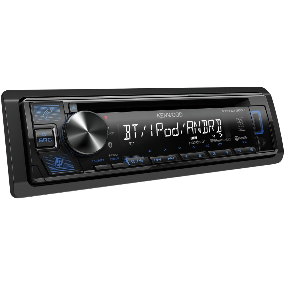 medium resolution of kenwood kdc bt350u single din in dash cd receiver with bluetooth siriusxm ready walmart com