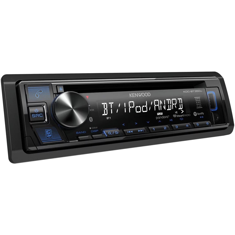 hight resolution of kenwood kdc bt350u single din in dash cd receiver with bluetooth siriusxm ready walmart com