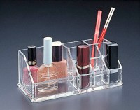 Acrylic Lucite Makeup organizer with 6 lipstick holder ...