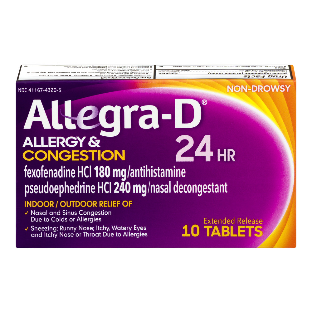 Allegra Allergy Non-Drowsy 24-Hour Extended Release ...