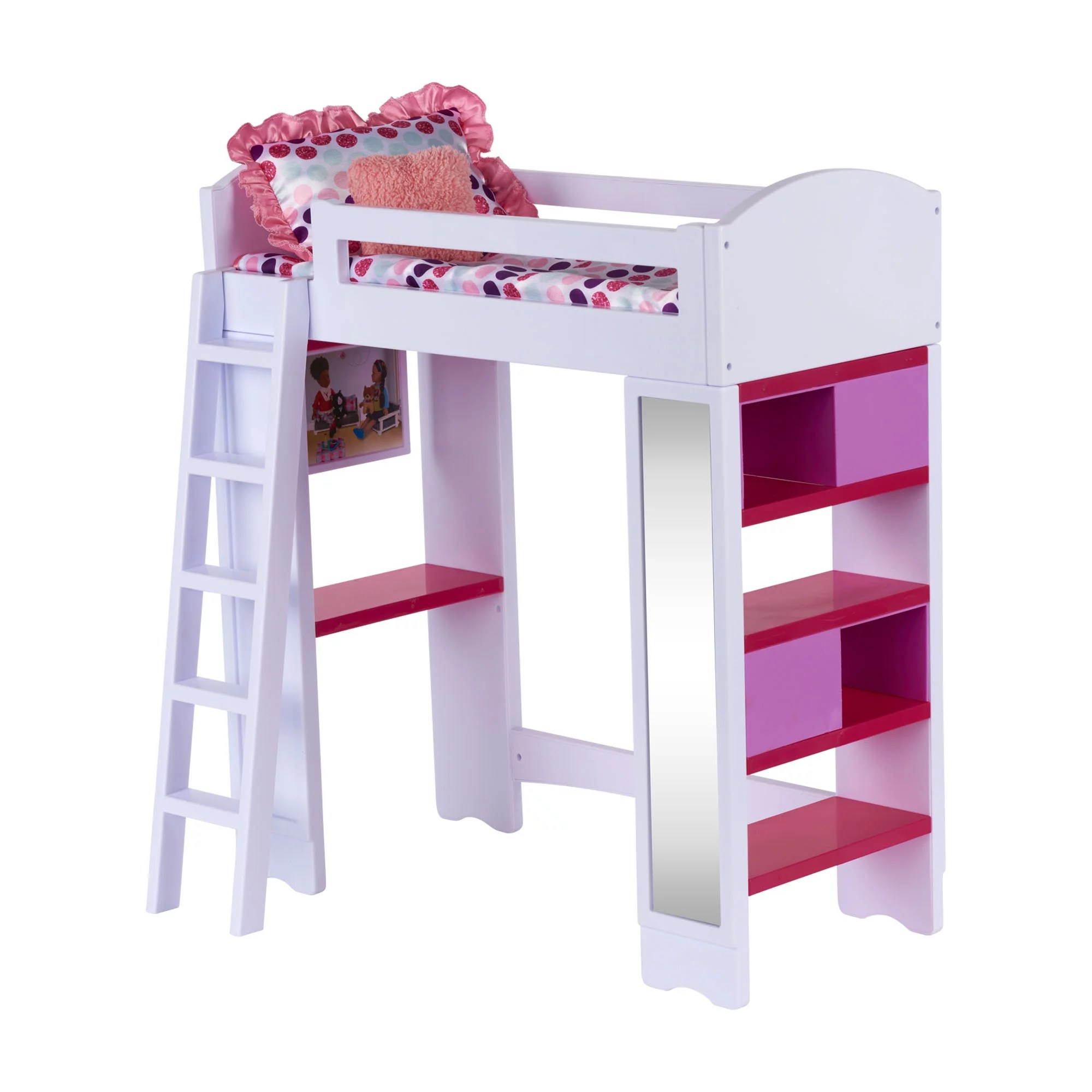 my life as loft bed play set for 18 dolls 6 pieces