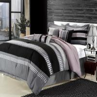 Castle Rock Grey Comforter Bed In A Bag Set - Queen 8 ...