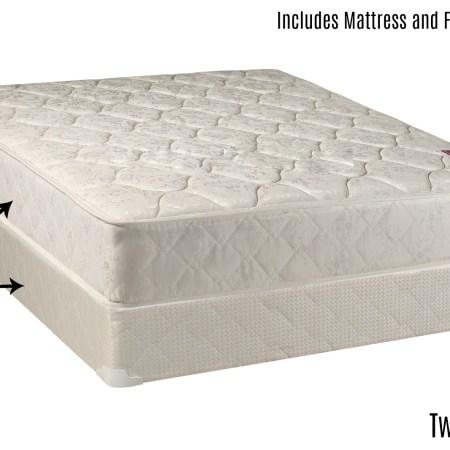 Continental Sleep Elegant Collection Mattress Set With Firm And Low Profile Box Spring Twin