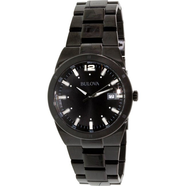 Bulova Men's Classic 98B234 Black Stainless-Steel Quartz Fashion Watch