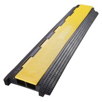 Yescom 2 Channel Rubber Electrical Wire Cable Cover Ramp ...