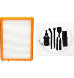 replacement eureka 4870hz vacuum hepa filter with 7 piece micro vacuum attachment kit compatible eureka hf 2 hepa filter [ 1600 x 1600 Pixel ]