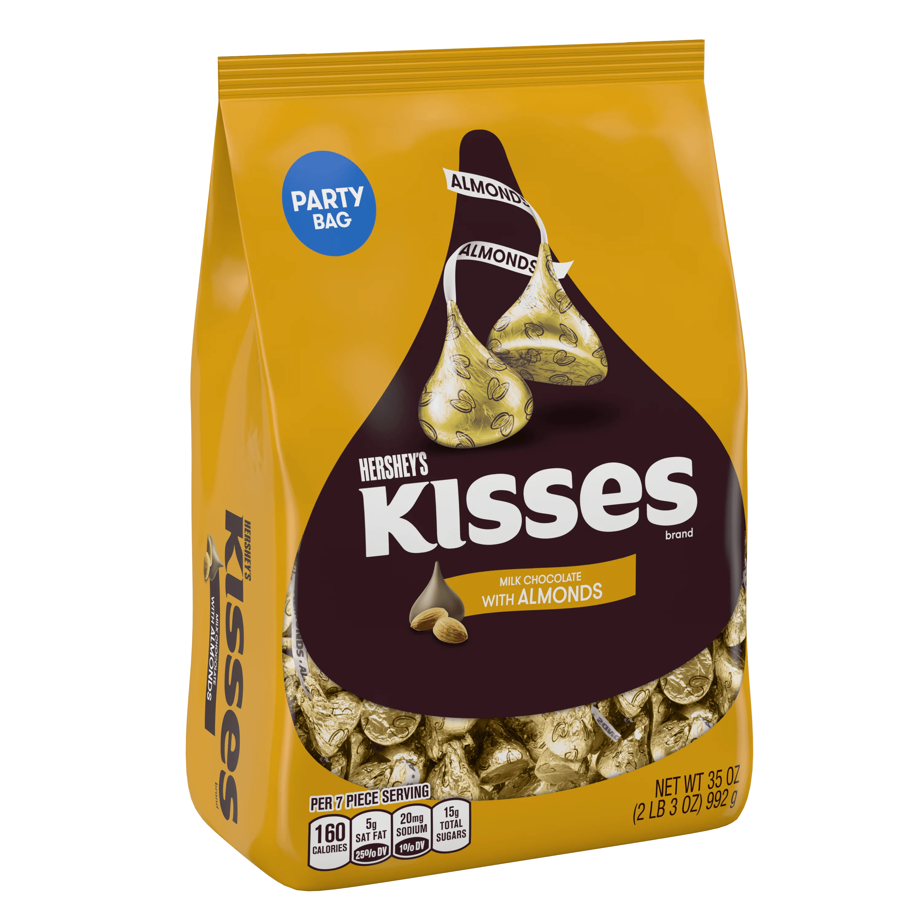 Hershey S Kisses Milk Chocolate Candy With Almonds 35 Oz