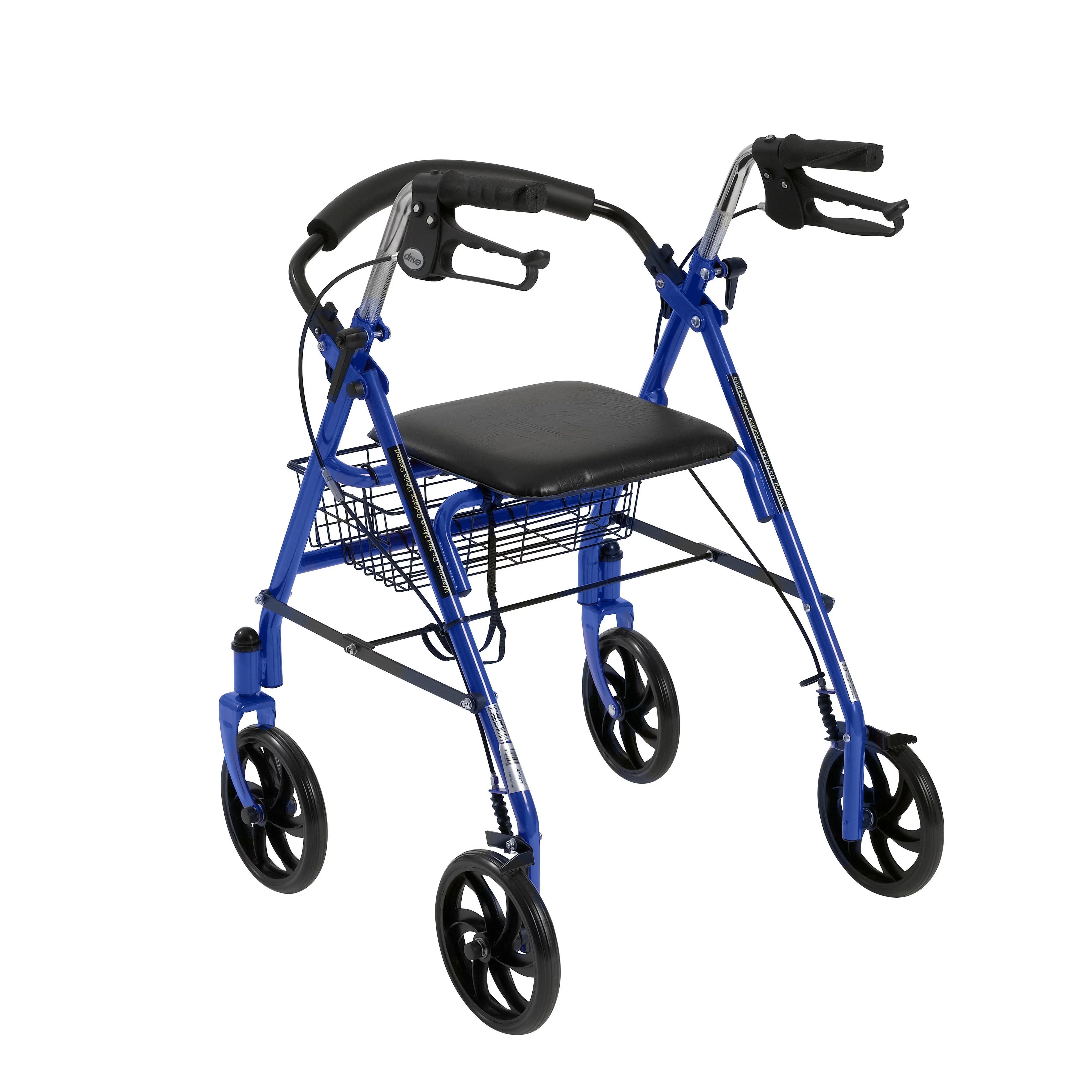 Wheel Chair Walker Folding Portable Rollator Seat Walking