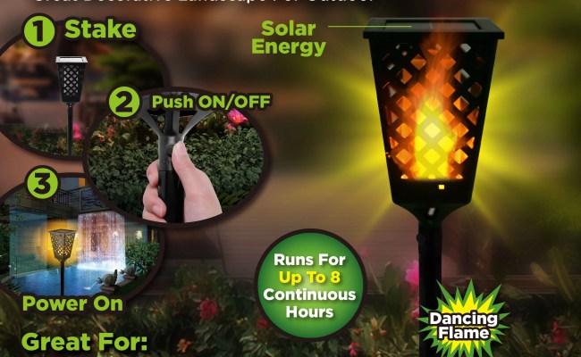 As Seen On Tv Dancing Tiki Light Solar Tiki Torch