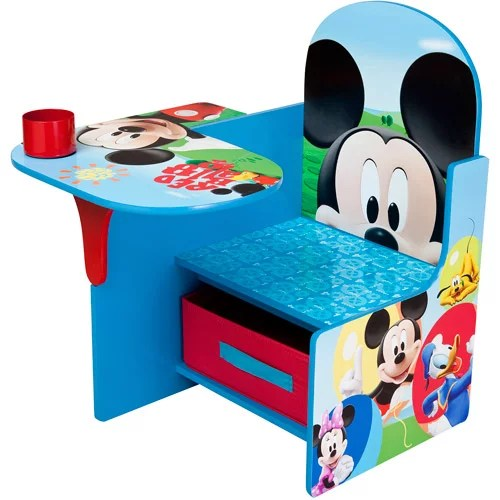 childs desk and chair tables chairs for kids disney mickey mouse with storage bin by delta children walmart com