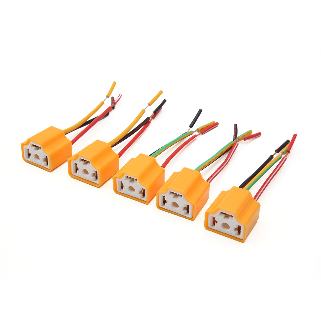small resolution of 5 pcs orange h4 lamp wiring socket headlight harness connector for car walmart canada