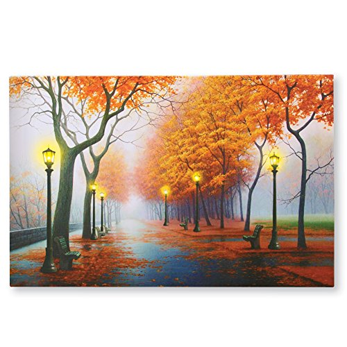 Autumn In The Park Led Lighted Canvas Wall Art