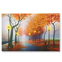 Autumn In The Park Led Lighted Canvas Wall Art - Walmart.com