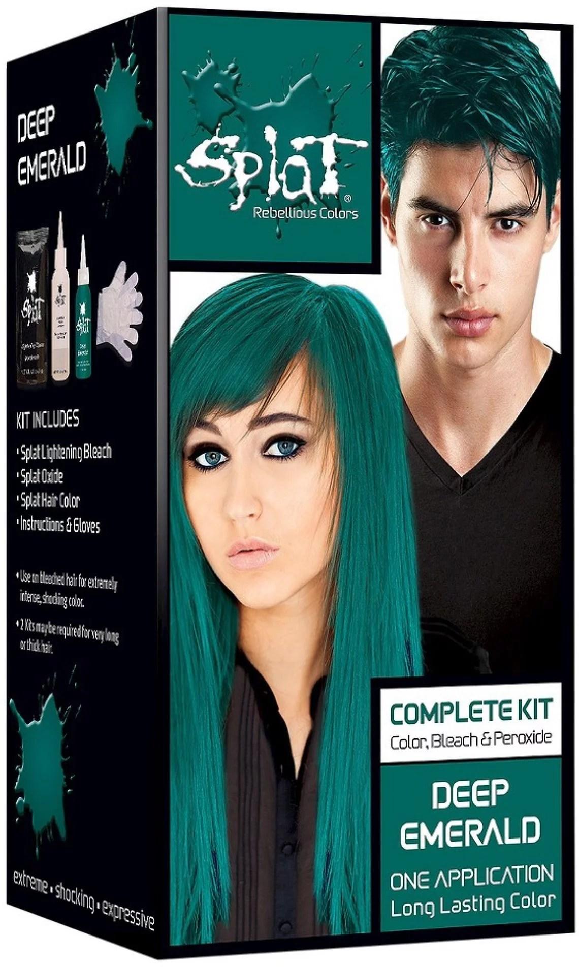 Splat Rebellious Colors Hair Coloring Complete Kit Deep Emerald 1 Ea Pack Of 2