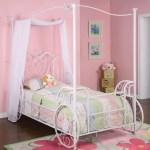 Powell Princess Emily Carriage Canopy Twin Size Bed Walmart Com Walmart Com