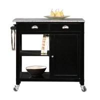 Better Homes and Gardens Kitchen Cart, Black/Granite ...