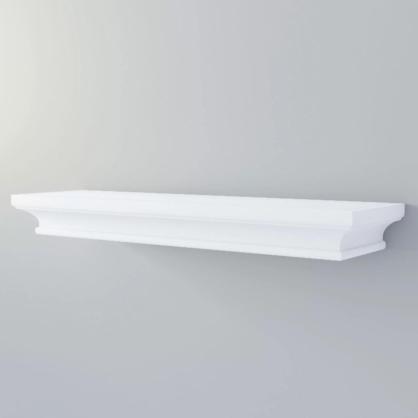 Bathroom Wall Shelf Mantle Decorative Molding for Storage