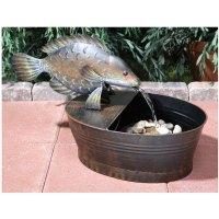 Outdoor Fish Garden Fountain With Water Pump - Walmart.com