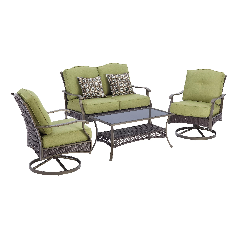 better homes gardens providence 4 piece patio conversation set green walmart com