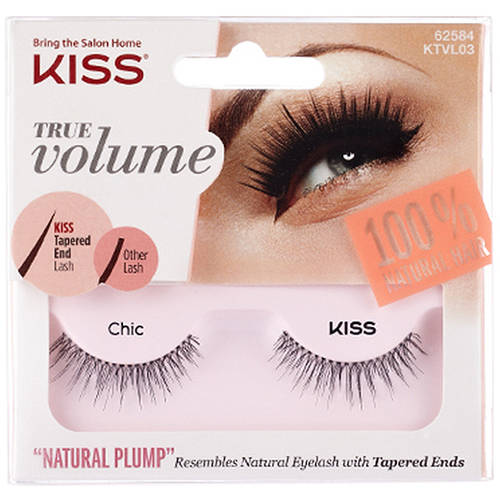 Kiss True Volume Natural Plump Eyelashes Chic  Walmartcom