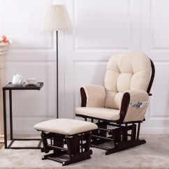 Baby Room Rocking Chair Lincoln Tufted Tub Accent Costway Nursery Relax Rocker Glider Ottoman Set W Cushion Beige