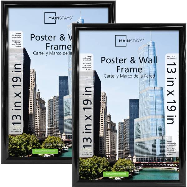 Mainstays 13x19 Trendsetter Poster And Frame Black Set Of 2