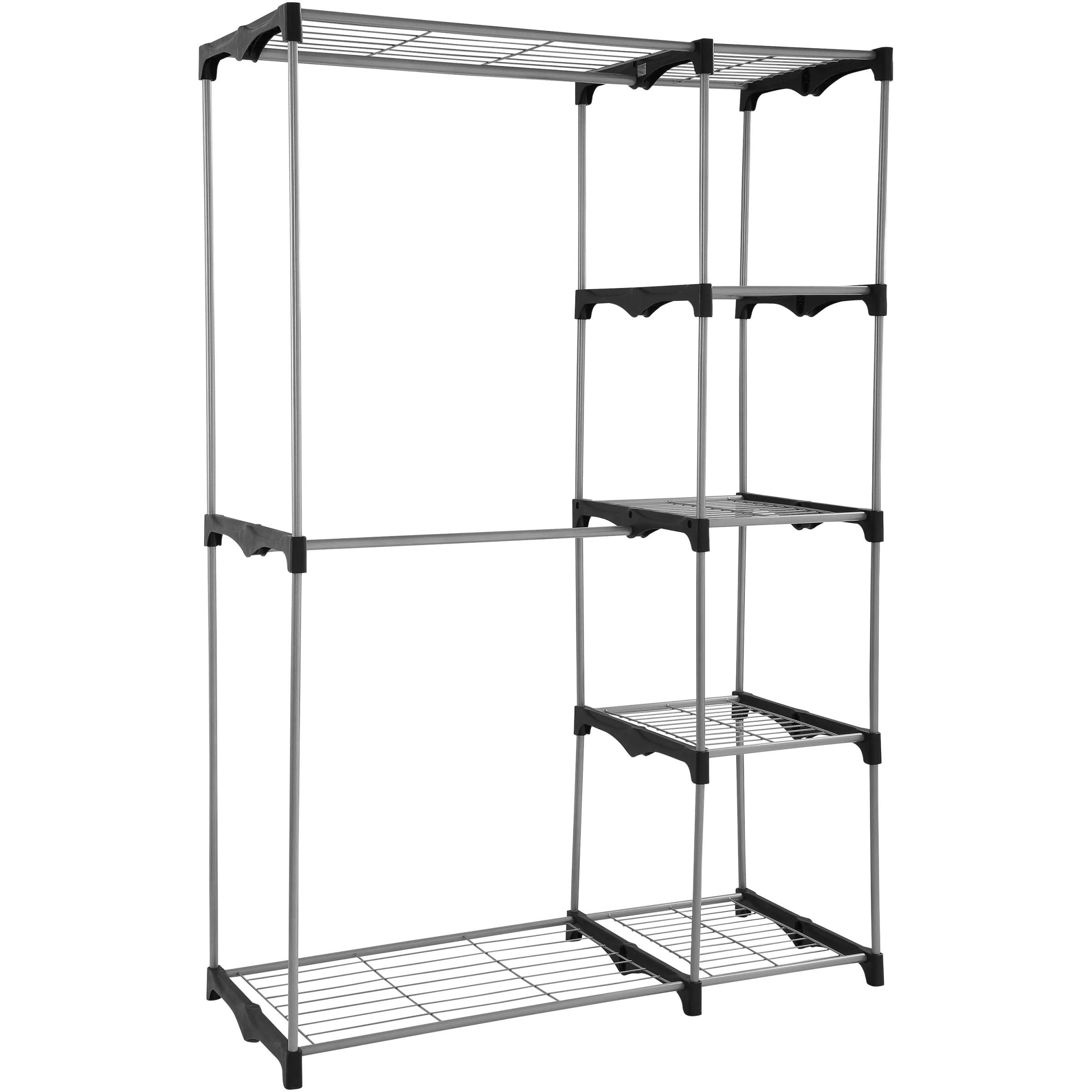 Mainstays Wire Shelf Closet Organizer, 2-Tier, Easy to