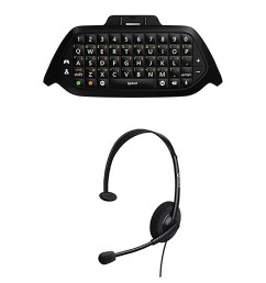 microsoft wired headset chat pad keypad for xbox one gaming online game black walmart com [ 1500 x 1500 Pixel ]