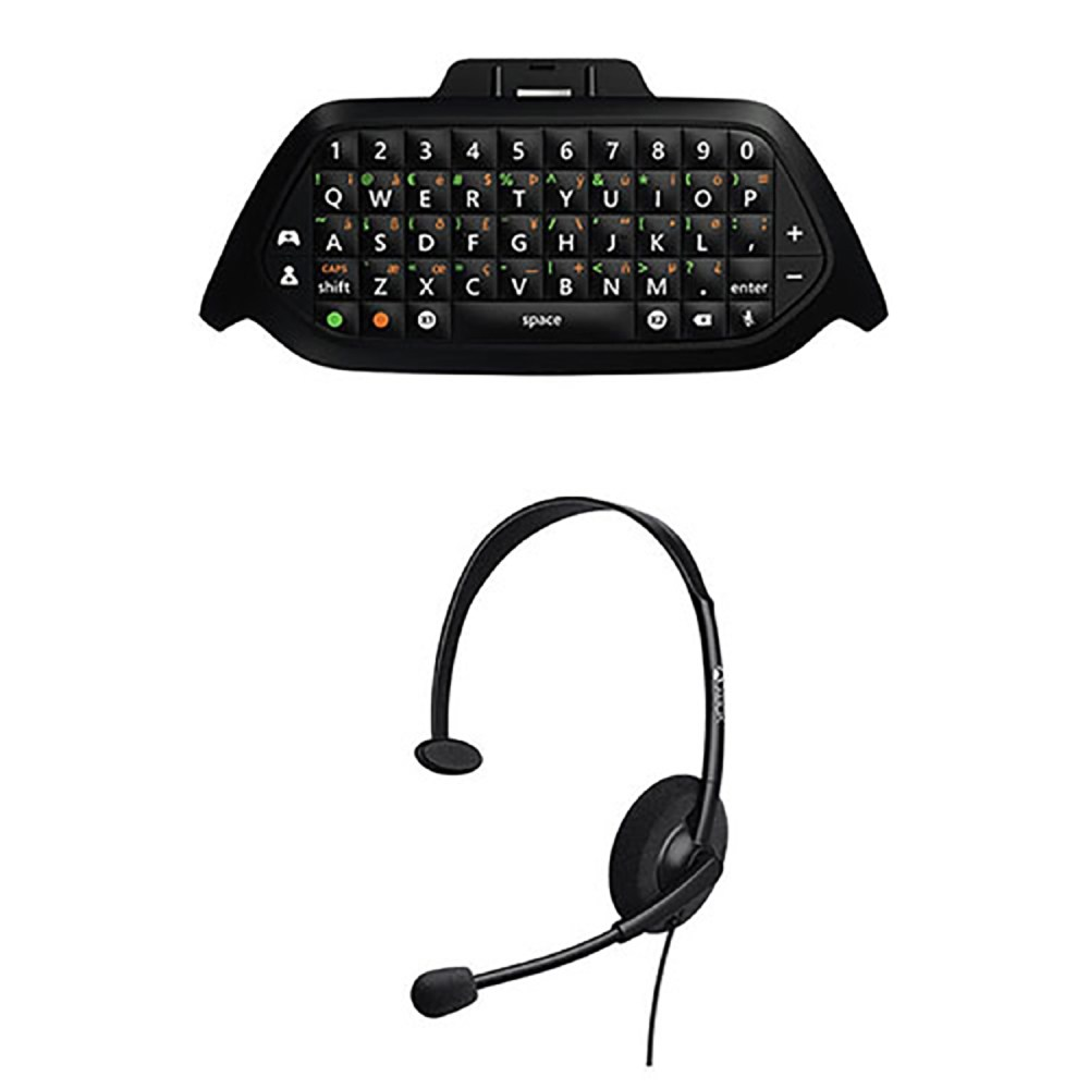 medium resolution of microsoft wired headset chat pad keypad for xbox one gaming online game black walmart com