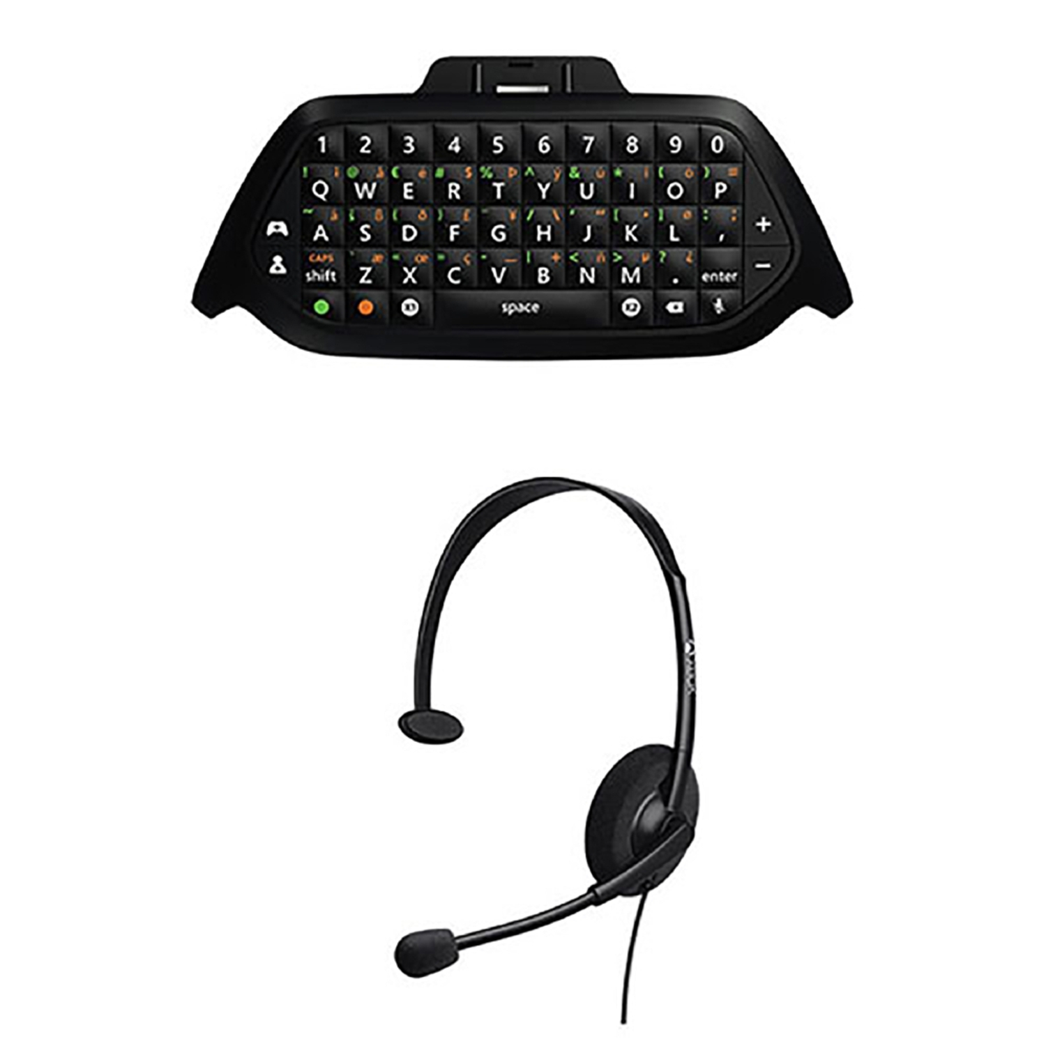 hight resolution of microsoft wired headset chat pad keypad for xbox one gaming online game black walmart com