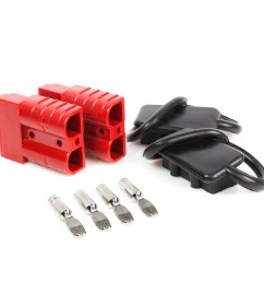 battery quick connect disconnect electrical plug 6 10 gauge 75 amps for recovery winch or atv quad walmart com [ 1600 x 1600 Pixel ]