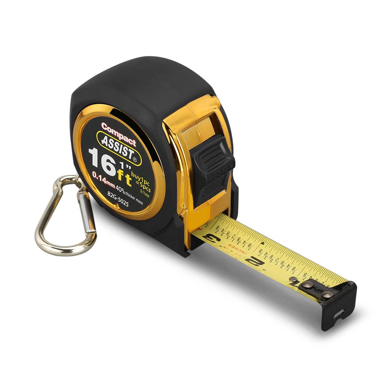 Assist 16ft Tape Measure Inches And Metric Measurement