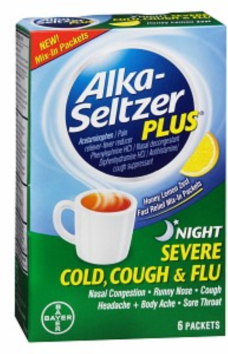 Alka-Seltzer Plus Night Severe Cold Cough & Flu Packets ...