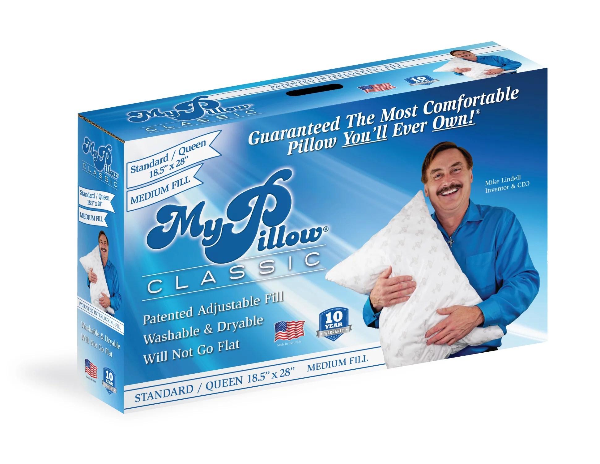 mypillow classic queen size pillow medium support walmart com