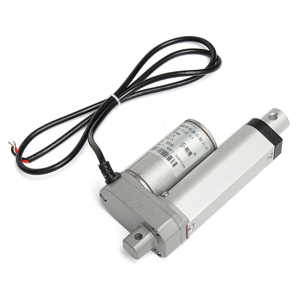 hight resolution of saiclehome 200n auto car dc 12v 44lbs heavy duty linear actuator lift electric motor 30mm s walmart com